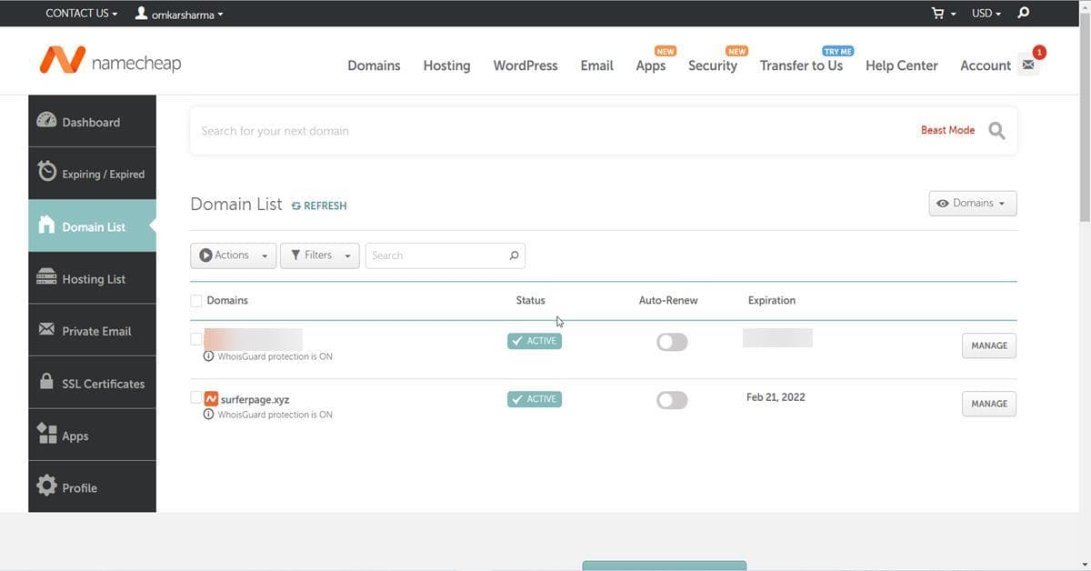 how to add Namecheap domain to blogger